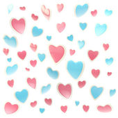 Background made of colorful hearts isolated — Stock Photo