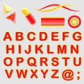 使你的 logo abc 字母表.用标志设置 — 图库照片