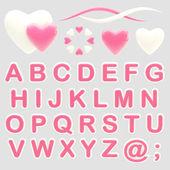 Maken van uw logo abc alfabet instellen met emblemen — Stockfoto