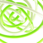 Abstract background made of plastic glossy rings — Stock Photo