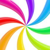 Abstract rainbow twisted stripes background — Стоковое фото