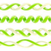 Spiral glossy plastic design ornament — Стоковое фото