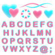 Make your logo abc alphabet set with emblems — Φωτογραφία Αρχείου