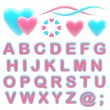 Make your logo abc alphabet set with emblems — ストック写真