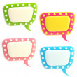 Set of four glossy text bubbles isolated — Stock Photo