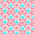 Seamless background texture made of love hearts — Stock fotografie