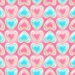 Seamless background texture made of love hearts — Stockfoto #8979779