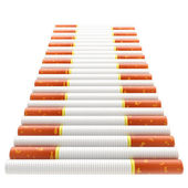 Smokers way: staircase made of cigarettes — Stock Photo