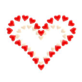 St. Valentine symbol made of hearts isolated — Stock Photo
