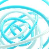 Abstraktní pozadí z plastu lesklé kroužky — Stock fotografie