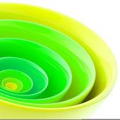 背景所作的抽象的塑料圈 — 图库照片