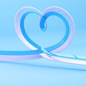 Abstract heart symbol made of ribbon — Stock Photo