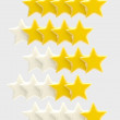 Stock Photo: Rating system from one up to five stars