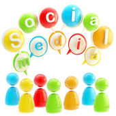 Social media colorful glossy emblem isolated — Stock Photo