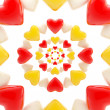 Abstract background made of glossy hearts — Stock Photo