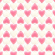 Foto Stock: Seamless background texture made of love hearts