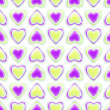 Seamless background texture made of love hearts — 图库照片