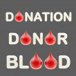 """Donation"", ""donor"", ""blood"" words — Stock Photo"