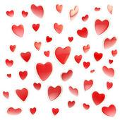 Bakgrund av färgglada hjärtan isolerade — Stockfoto