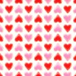 Seamless background texture made of love hearts — Stock Photo #9940094