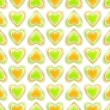 Seamless background texture made of love hearts — Stockfoto #9940097