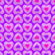 Seamless background texture made of love hearts - Stock Photo