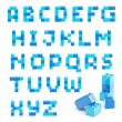 Alphabet set made of toy blocks isolated — Stock Photo #9949878