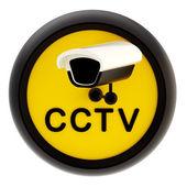 Kapalı devre televizyon uyarı işareti — Stok fotoğraf