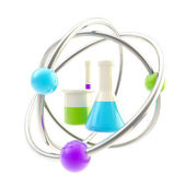 Science and research glossy icon isolated — Stock Photo