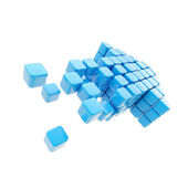 Arrow symbol made of glossy cubes — Stock Photo