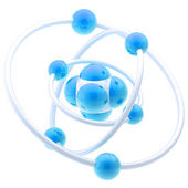 Nano technology emblem as atomic structure — Stock Photo