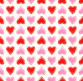 无缝背景纹理的爱的心 — 图库照片