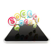 Tecnologías de los medios sociales — Foto de Stock