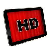 Icono de pantalla de alta definición cojín — Foto de Stock