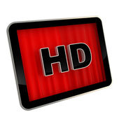 ícone de tela de alta definição almofada — Foto Stock