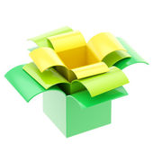 Three colorful gift boxes isolated — Stock Photo