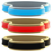 Set of three glossy coat tapes isolated — Stock Photo