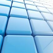 Sfondo astratto fatto di cubi blu — Foto Stock