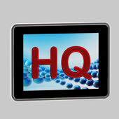 HQ high quality icon as a pad screen — Stock Photo