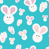 Cute children pattern with bunnies — Stock Vector