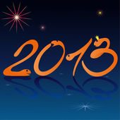 Legrační hady a symboly nového roku 2013 — Stock vektor