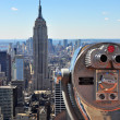 Stock Photo: Empire State Building, shot from the Top of The Rock