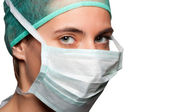 Female Surgeon with face mask — Stock Photo