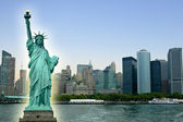 New York City with Statue Liberty — Stock Photo