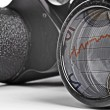 Stock Photo: Old Binoculars Seeing Financial Crisis