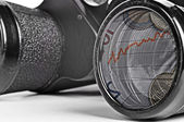 Old Binoculars Seeing Financial Crisis — Stock Photo