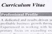 Curriculum Vitae — Stock Photo