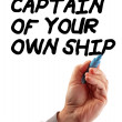 Hand Strategy Captain Of Your Ship — Stock Photo