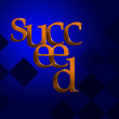 3D Text Concept Succeed — Stockfoto
