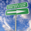 Street Road Sign Change For The Better — Foto de Stock